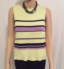 Chandler Hill Womens Knit Vest Tank Sweater Top Green Purple Black Size Large