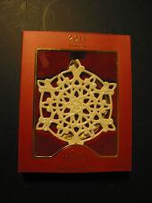 Lenox 2011 Annual Snow Fantasies Snowflake Ornament, Bnib