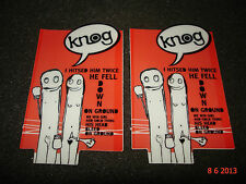 2 AUTHENTIC KNOG LIGHTS, LOCKS, COMPUTER AND TOOLS FUN STICKERS #5 / DECALS
