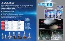 NARVA H3 BLUE +110% PLUS 110 HALOGEN HEADLAMP LIGHT BULBS NEW GLOBES 48531BL2