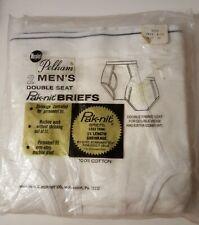 Vintage Murphy'S Pelham Double Seat Pak-Nit Briefs 2 White Cotton Sz 32 Nos Nip