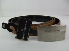Stacy Adams Tan Alligator Embossed Genuine Leather Buckle Belt Mens Size 50""
