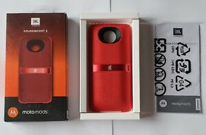 Unused RED JBL SoundBoost 2 Moto Mod Speaker for Motorola Moto Z in Retail Pkg