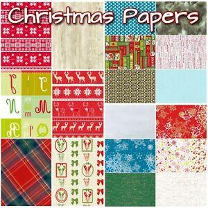 Christmas Decoupage Paper  ***Full Range inc Texture/Foil***  by Decopatch