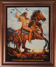 End of the Trail Native American Indian Picture Mahogany Framed Art Print 18x22