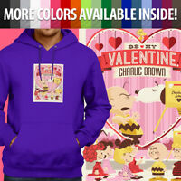 Peanuts Be My Valentine Charlie Brown Snoopy Pullover Sweatshirt Hoodie Sweater