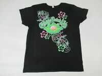 CABBAGE PATCH KIDS BABY CABBAGE FLOWERS - BLACK MEDIUM T-SHIRT - Y581