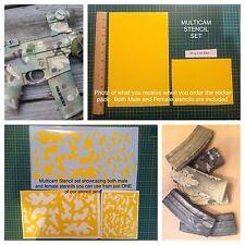 Multicam Type vinyl stencil For Duracoat, Cerakote, Krylon, Brand New!
