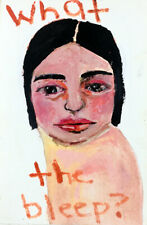 Outsider Art Portrait Painting What the Bleep Katie Jeanne Wood