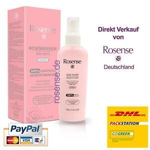 (€12,99/100 ml) Rosense 100% naturreines Rosenwasser, ohne Alkohol - 100ml-Spray