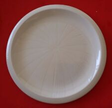 Vintage FRANCISCAN USA WHITE SEA SCULPTURES URCHIN DINNER PLATE  TIKI BAR
