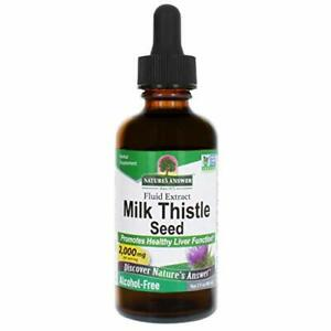 Nature's Answer Milk Thistle Extract   Promotes Healthy Liver Function   Clea...
