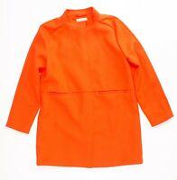 New H&M Orange Over Coat / Jacket Size 12 MSRP $80