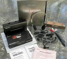 SUPERB SONY WALKMAN PROFESSIONAL CASSETTE PLAYER WM-D6C, BOX, MICS, HEADPHONES!!