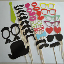 32Pcs On A Stick Mustache Photo Booth Props Wedding Birthday Party Fun Favor