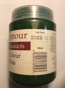 Pip Seymour Sap Green Acrylic Paint 500ML. New Unused