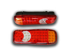 PAIR 24V LED TAIL LAMPS MULTI FUNCTION REAR LIGHTS LORRY TRUCK CHASSIS TRAILER
