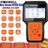 FOXWELL NT650 Elite Automative Code Scanner ABS SRS TPMS Oil DPF Injector Coding