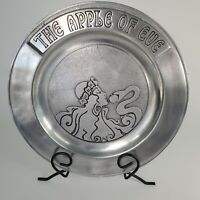 """Wilton Pewter Armetale Metal Plate The Apple of Eve with Snake 11"""" Wide"""