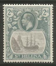 STAMPS-ST HELENA. 1922. 2d Grey & Slate. Variety Cleft Rock. SG: 100c. MH.