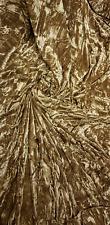 Antique Gold Diamond Ice Crush Velvet Fabric 58'' PRICE PER METER