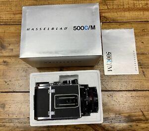 NEAR MINT Hasselblad 500CM C/M BLACK A12 III w/ CF Planar 80mm f/2.8 NASA