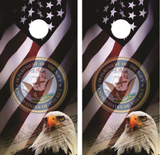U.S. Navy American Eagle Cornhole Board Skin Wrap Decal Set with Lamination