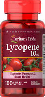 Puritan's Pride Lycopene 10 mg - 100 Softgels (free shipping)