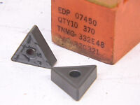 NEW SURPLUS 10PCS. CARBOLOY TNMG 332E48 GRADE: 370 CARBIDE INSERTS