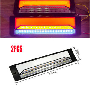 12-30V 3W Halo Neon Flowing LED Trailer Truck Turn Signal Brake Tail Light Lamp