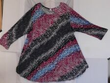 "MAXI DUAL~2X~WOMENS PULLOVER BLOUSE MULTI COLORS~POLYESTER ""NEW"""
