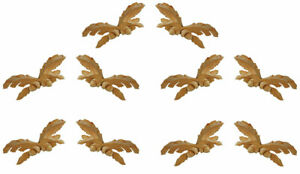 5 Pairs of Medium Sized Oakleaf Appliques with Two Acorns - PX 966