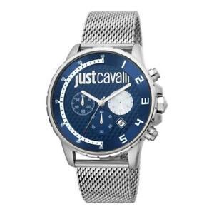 Orologio Uomo JUST CAVALLI SPORT JC1G063M0275 Chrono Bracciale Acciaio Mesh Blu