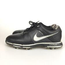 Nike Golf Shoes 418471-001 Flywire Lunarlon Men's Size 8 US Black Golf Cleats