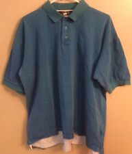 Men's North Face Aqua Blue (L) Golf Polo Casual SS Shirt
