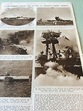 m5-1 ephemera 1943 ww2 picture 1 page folded u s a the hornet kamikaze attack