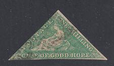 Cape of Good Hope SG 21 Scott 15 1/- Emerald Green Triangle Seated Hope SCV $550
