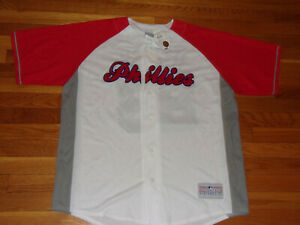 NWT PHILADELPHIA PHILLIES CHASE UTLEY BUTTON-FRONT BASEBALL JERSEY MENS XL
