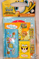 NEW IN PACKAGE SPONGEBOB SQUAREPANTS STUDY KIT 11 PIECE VALUE PACK, PENCILS