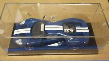 2017 Ford GT Blue with Stripes 1/24 Scale Plastic Model with Clear Display Case