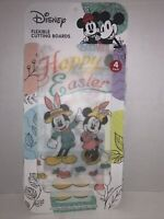 "Disney Mickey & Minnie ""EASTER 4-Pack Flexible Cutting Boards 8"" x 11"" NEW"
