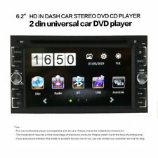 Car Stereo Radio DVD Player 6.2inch Touch Screen Bluetooth 2DIN+Rear Camera Set