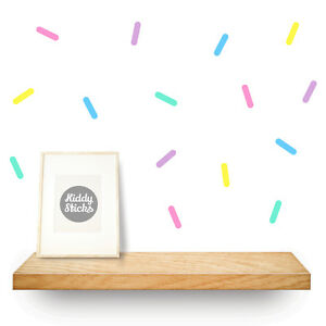200 x Sprinkle Shaped Wall Stickers / Decals UK seller  FREE UK P&P