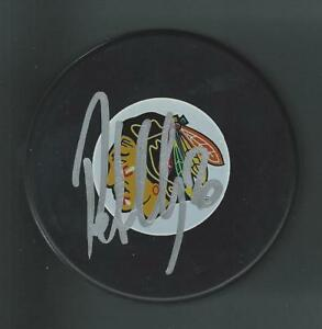 Robert Lang Signed Chicago Blackhawks Puck