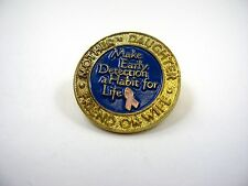 Vintage Collectible Pin: Breast Cancer Make Early Detection A Habit for Life