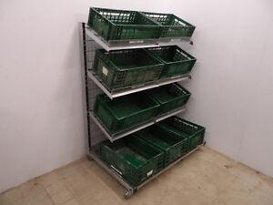 Obstregale 130cm neu chrom 1x Obstabteilung Supermarkt Obst Gemüse Regale Späti
