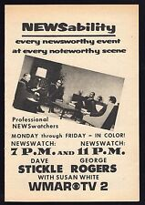 1968 TV AD~DAVE STICKLE~GEORGE ROGERS~SUSAN WHITE~WMAR NEWS BALTIMORE,MARYLAND