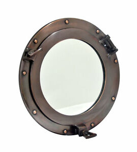 """Aluminum Porthole Mirror copper finish Metal Gift Mirror Home & Office Décor10"""""""
