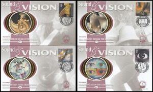 2000 GB Sound & Vision Set of 4 Benham FDC's BS45-BS48