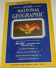 NATIONAL GEOGRAPHIC MARCH 1984 CHINA;LASER;HOLOGRAPHY;CANADA WEST;RHINO KILLING